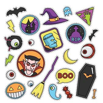 Illustrazione Vintage patch di moda di Halloween
