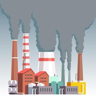 Impianto altamente inquinante della fabbrica