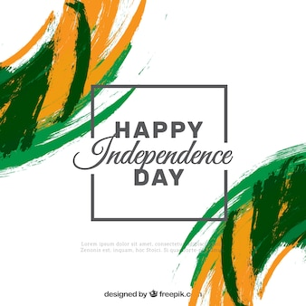 India giorno di indipendenza sfondo con pennellate