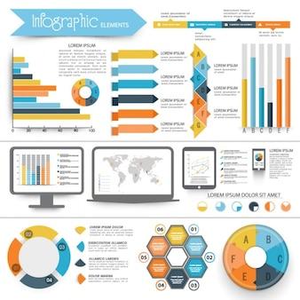 Infografica complete con elementi geometrici