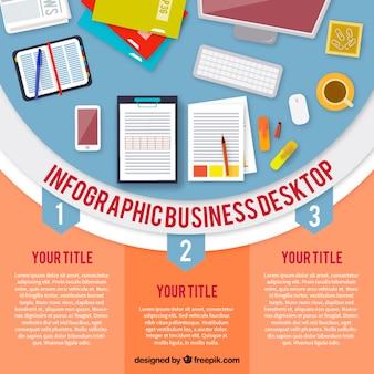 Infografica professionali scrivania
