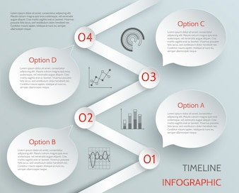 Infronto di business della cronologia con grafici e illustrazione vettoriale di opzioni di carta