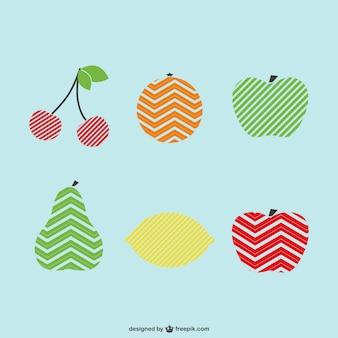 Insieme vettoriale logo frutti template