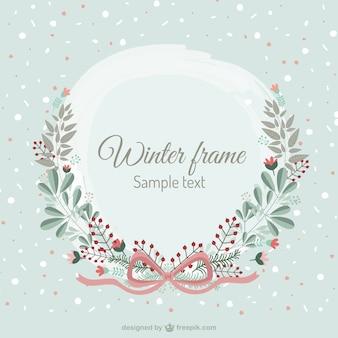 Inverno cornice floreale