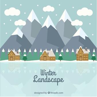 Inverno paesaggio naturale sfondo