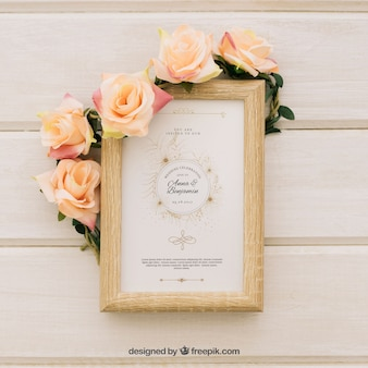 Invito di nozze d'epoca elegante