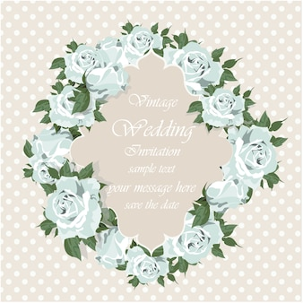 Invito di nozze floreale