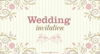 Invito floreale matrimonio