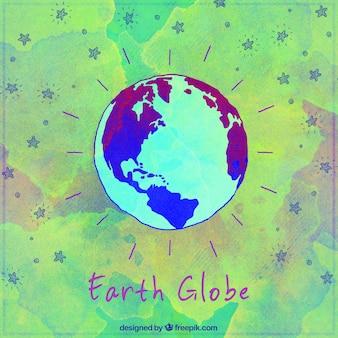 Isolati terra globo sfondo