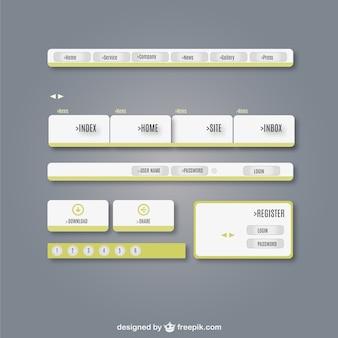 Kit interfaccia utente web elementi