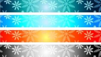 La bandiera di natale vettore colorato