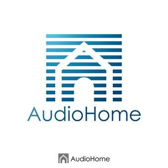 La lettera iniziale A e il concetto di logo della casa. Modello di logo. illustrazione vettoriale.