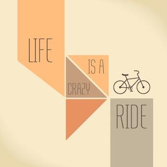 La motivazione Quote La vita è una folle corsa creativo vettore Tipografia Concetto