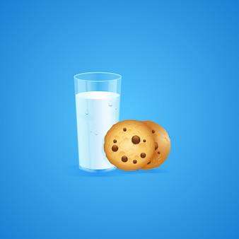 Latte e biscotti sfondo