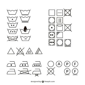 Lavaggio logo icona materiale vettore