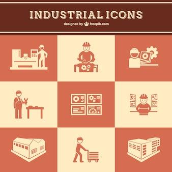 Lavoro industriale vector set gratuito