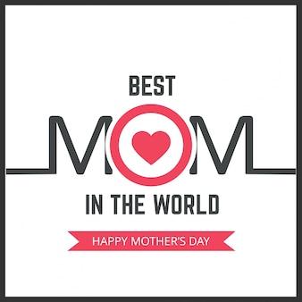 Letteratura di giorno delle madri felice Illustrazione vettoriale handmade di calligrafia Scheda di giorno delle madri
