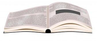 Libro aperto di vettore. libri di testo aziendale.
