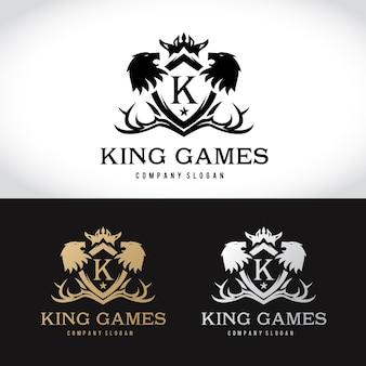 Lion Crests logo. Design logo set di lusso per hotel, club sportivo, immobiliare, spa, identità di marca di moda