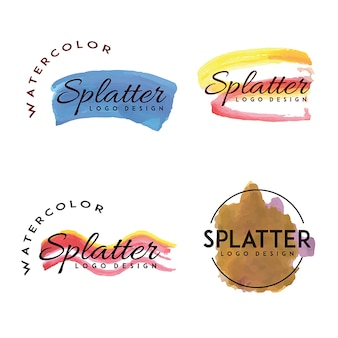 Loghi Handdrawn Watercolor Splatter