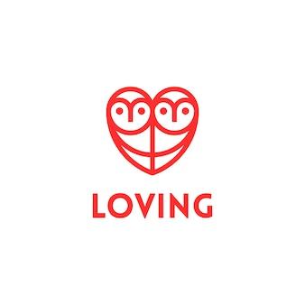 Logo amoroso del gufo del gufo