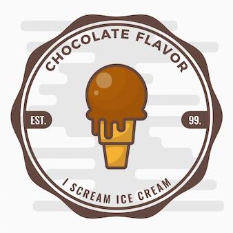 Logo del distintivo del gelato