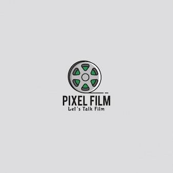 Logo della pellicola con uno sfondo grigio