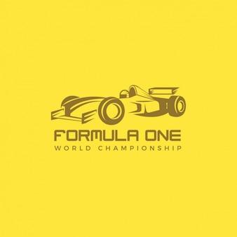 Logo di auto da corsa su uno sfondo giallo