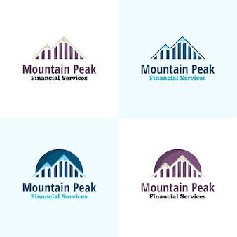 Logo di vettore di picco di montagna