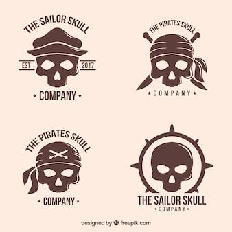 Logo fantastico set cranio