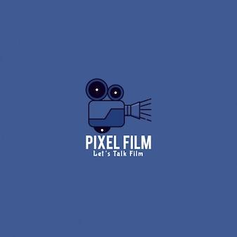 Logo film su uno sfondo blu