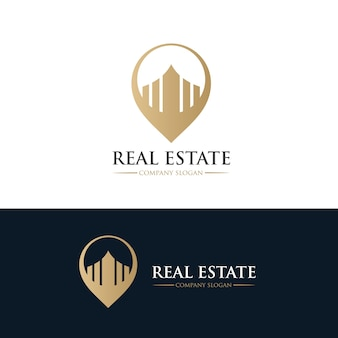 Logo immobiliare, logo della casa, proprietà, logo della casa, casa e costruzione, modello di logo vettoriale