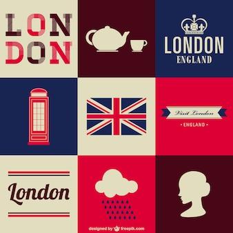 London libero insieme di simboli