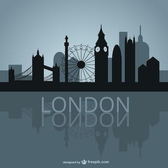 London skyline di disegno vettoriale