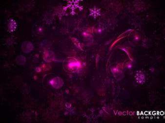 Luci viola e fiocchi in fondo scuro natale