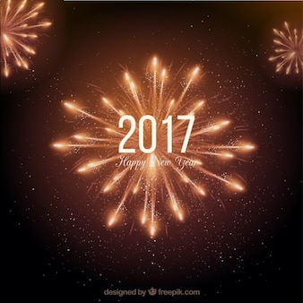 Luminoso nuovo anno fuochi d'artificio sfondo