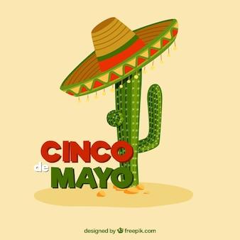 Maggio cinque in Messico illustrazione