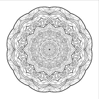Mandala arrotondato con sfondo bianco