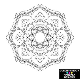 Mandala nera per il libro di colorazione