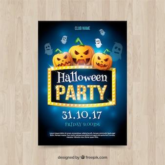 Manifesto di Halloween party