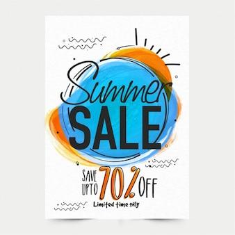 Manifesto di vendita di estate con fantastici sconti