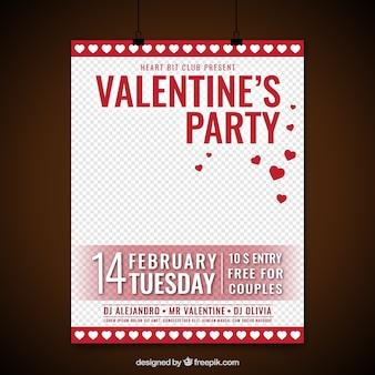 Manifesto festa di San Valentino con scatole regalo rosso