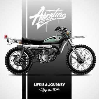 Manifesto motociclistico vintage scrambler