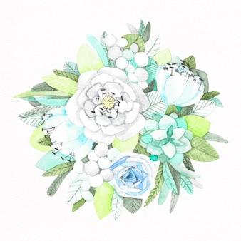 Mazzo di fiori dipinti a mano