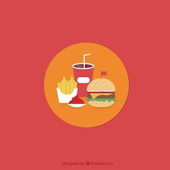 Menu di cibo veloce
