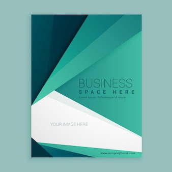 Minimal green design brochure vettore business