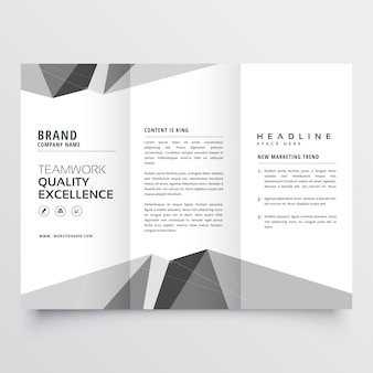 Minimal modello di progettazione brochure a tre ante grigio