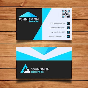 Minimo di blu modello di business card
