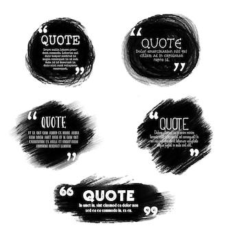 Modelli di citazione in stile Grunge