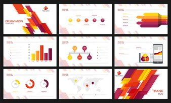 Modelli di presentazione con infografici.
